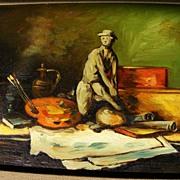 Frank Lean Oil Painting 1972