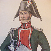 SALE Collection of 7 Napoleonic War French Military Uniform Prints E. Bucquoy