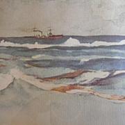 Winslow Homer Framed Print 1958 - Motor Sailer