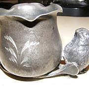 VIctorian Bird with Wishbone Figural Toothpick Match Holder