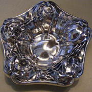 SOLD Antique Art Nouveau 1890s Van Bergh Silver Plated Nut or Ring Dish