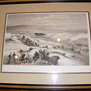 Antique Military Print - 1855 - Sebastobol from the 26 gun battery on the extreme right of French attack
