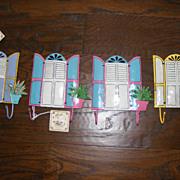 SALE Set of 4 Tropical Beach House Hand Made and Hand Painted Towel Hooks