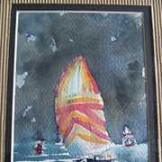 Original Water Color - Sailboat