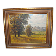 """Oil Painting """"Prospect Trail"""" 1935 by W.S. Armstrong"""