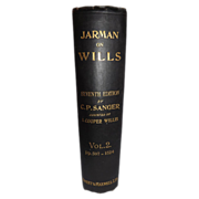 Vintage Law Book - Jarman on Wills Seventh Edition Vol. 2
