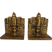 Vintage PM Craftsman Candle Stick Bookends