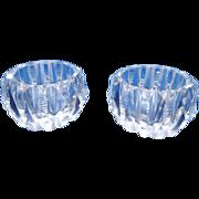 Set of 2 Cut Crystal Open Salt Cellars