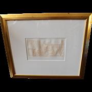 Gustavo Arias Murueta Actoeromanies II erotic etching Signed and Numbered