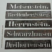 Vintage Zinc Metal Stencils - Salvaged Industrial Elements