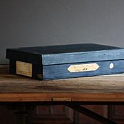Antique English Haberdashery Storage Box - Vintage Industrial Store Advertising Box
