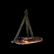 LARGE Antique Georgian English Hanging Copper Scales Pan - 19th Century