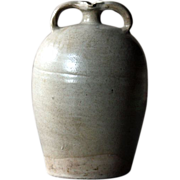 Antique French Pottery Oil Jug -  19th Century Stoneware Cruche