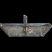 SOLD Antique English Zinc Metal Garden Basket - Vintage Trug