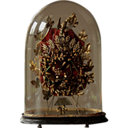 SOLD Antique French Marriage Dome Glass Display Stand