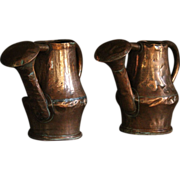 18th Century Copper Watering Can PAIR - Antique Garden Watering Cans