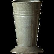 Vintage English Florist's Zinc Metal Flower Vase - Market / Garden Bucket