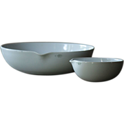 SOLD Vintage English Laboratory Crucibles / Evaporating Dishes