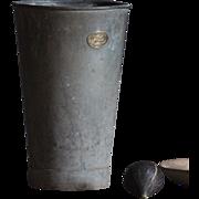 SOLD Antique English HASSOCKS Flower Bucket - Florist Garden Zinc Metal Vase