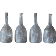 19th Century French Glass Liquor / Spirits / Wine Bottles - Antique Cognac Bottles