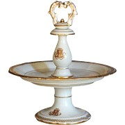 SOLD Antique French Porcelain Tazza / Comport Stand / Plate - Pillivuyt