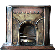 "Antique English SALESMAN""S Miniature FIREPLACE Model - Shop Advertising Architectural Sam"