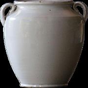 Antique French White-Glazed Earthenware CONFIT Pot
