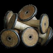Vintage Textile Mill Bobbins - Salvaged Industrial Spools