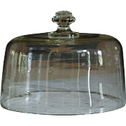SOLD 19th Century French Glass Cake Dome - Antique Food Cloche / Cheese Cover