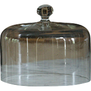 SOLD 19th Century French Blown Glass Food Cloche - Antique Cake / Cheese Dome Cover