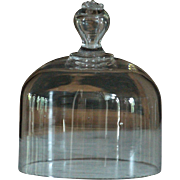 SOLD 19th Century French Glass Cloche - SMALL Antique Cake Food Cheese Dome Cover - Red Tag Sa