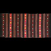 Vintage Balkan Woven Textile - Serbian Kilim / Table Runner Piece