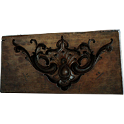 19th Century English Boxwood Carved Mold - Antique Wooden Mould