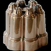 Antique English Copper Jelly Mold - Belgrave Design - 19th Century Victorian Jelly Mould