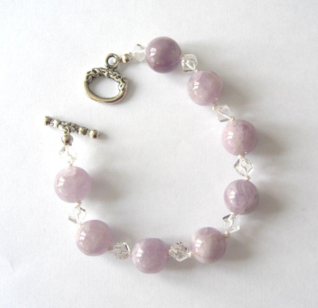 Lovely Light Amethyst/Quartz Bracelet