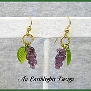 Grape Cluster Dangle Earrings