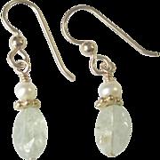 Petite, Dainty Aquamarine Earrings