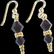 Black Onyx & Vermeil Earrings