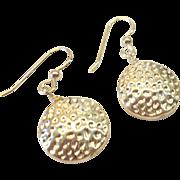 Dangling Sterling Silver Disc Earrings
