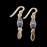Beautiful Turquoise Howlite/Vermeil Earrings