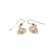 Natural Shell and Freshwater Pearl Earrings