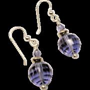 Tanzanite Swarovski Crystal Earrings