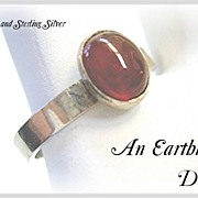 SOLD Carnelian & Sterling Silver Ring - Red Tag Sale Item