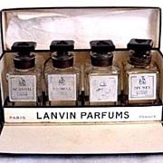 Lanvin Perfumes Mini Set of 4 in Original Box Vintage