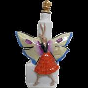 SOLD German Crown Top Figural  Perfume Bottle  Butterfly Lady
