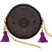 Stylish, Highly-Collectible Vintage MCM Evening Bag With Multi-Colored, Interchangeable Tassel