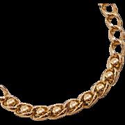 Bold, Stylish Vintage Sperry Goldtone Chain Necklace