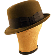 Classic Vintage Olive Green Homburg by the Richman Brothers