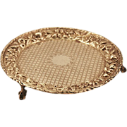 ca 1910 S. Kirk and Son Sterling Silver Claw Footed Calling Card Tray