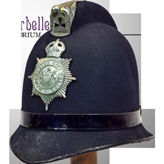 Rare Vintage British Manchester Bobbie Policeman's Hat